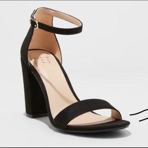 High black heel pumps